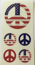 PEACE SIGN-US FLAG Sticky Pix Stickers (5pc)Paper House•4th of July Independence