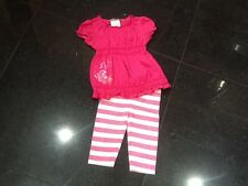 Juicy Couture New & Genuine Cotton Pink 2 Piece Baby Girl 6/12 MTHS & Logo