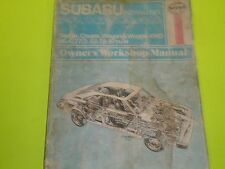 Haynes 1971- 1979 Subaru 1100 1300 1400 1600 Repair Manual 12 PICTURES FREE SHIP