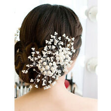 Hair Accessories Floral Wedding Pearl Crystal Bridal Comb Hairpin Accessories