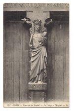 reims  trumeau du portail  ,la vierge et l'enfant    a.e