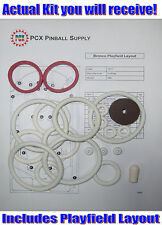 1977 Gottlieb Bronco Pinball Machine Rubber Ring Kit