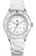 Tommy Hilfiger Women sport white dial white silicon watch 1781184 NEW