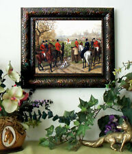 SALE Herberte DRAWING COVER Horse Fox Hunt Print Antique Style Framed Pony fh