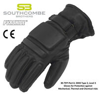 Police Public Order / Riot Leather Glove lined with Kevlar, New