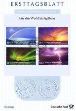 BRD 2009: Himmelserscheinungen! Wohlfahrt-Ersttagsblatt mit den Nr 2707-2710! 1A