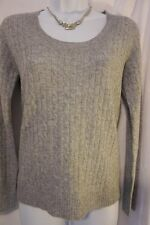 Size Small Kenar 2 ply Cashmere Sweater scoop neck gray