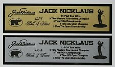 Jack Nicklaus Nameplate for signed golf photo ball flag