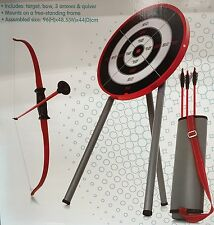 New Toy Archery Set Kids Children Archery Game Bow arrows Quiver Target stand