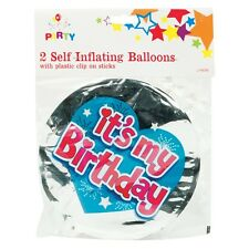 Birthday Self Inflating Balloons - 2 Pack