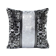 Vintage Black Silver Throw Pillow Case Cushion Cover Sofa Home Living Room Decor