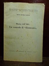 """Bruno Brunelli Bonetti : Musica dell'800 : Un cenacolo di """"filarmonici"""" - 1943"""