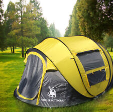 Gazelle Outdoors Camping Hiking 4 Person Family Instant Pop Up Tent Quick Open