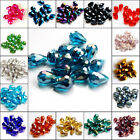 Wholesale lots 20pcs Faceted 8x12mm glass Crystal Teardrop Loose Spacer Beads