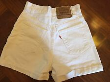 Vintage Levis 954 Jean Short High Waist Juniors 3 Regular Fit White made in USA