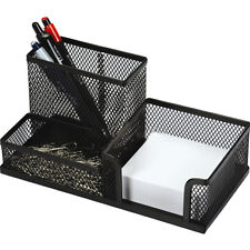 Black Mesh Pen Pencil Post it Holder Desk Office STATIONERY ORGANISER Container
