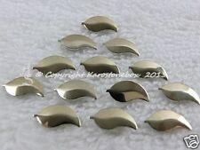 50 Hotfix formas de metal Remaches planchado Hojas Oro 4x8 mm Karostonebox por