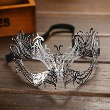 Luxury Venetian Metal Filigree Masquerade Party Mask Laser Cut with Rhinestones