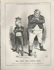 1872 Punch Cartoon Big & Little John Alabama Claims Lord Russell& John Bull Firm