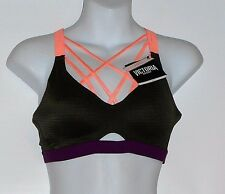 Victoria's Secret VSX Sport Lightweight Strappy Sport Bra Forest Night 36B NWT