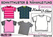T- Shirt pdf.Schnittmuster und Nähanleitung Gr.:92-128