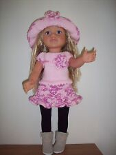 Hand knitted dolls clothes for american girl/soirée ou similaire doll