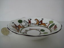 WEDGWOOD HOUNDS AND FOX HUNTING SCENES SHALLOW SWEET CANDY DISH ENGLISH CHINA