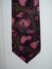 JUKA - MARCO ALESSANDRO modische Krawatte - reine Seide, gemustert oliv violett