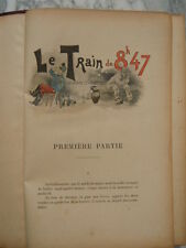 Le train de 8h47 par Georges Courteline illustration Albert Guillaume Flammarion