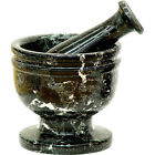 Marble Mortar & Pestle Black 3 1/2 Inch Diameter, Heavy, Quality