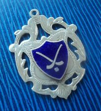 Attractive Sterling Silver & Enamel Fob Medal h/m 1961 - Irish Hurling / Shinty