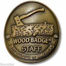 BOY SCOUT WOOD BADGE STAFF HIKING STICK MEDALLION