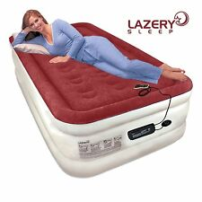 Lazery Sleep Air Mattress Airbed with Built-In Electric 7 Settings Remote LED...