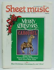 Sheet Music Magazine Merry Christmas Carousel Blue Mister Snow December 1987!