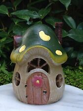 Miniature FAIRY GARDEN House ~ Small Mushroom Cottage House with LED Light