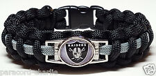 Oakland Raiders Handmade Paracord Bracelet or Paracord Lanyard