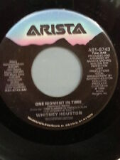 "WHITNEY HOUSTON 45 RPM ""One Moment in Time"" ""Love is a Contact Sport"" VG+ cond"