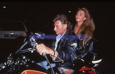 JOHNNY HALLYDAY 90s DIAPOSITIVE DE PRESSE ORIGINAL VINTAGE SLIDE #315