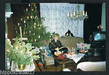 FOTO vintage PHOTO, Frau Weihnachten Telefon woman christmas TV Noel femme (61)