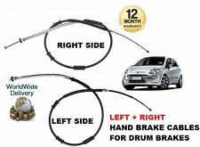 FOR FIAT GRANDE PUNTO + EVO 199 2005--  LEFT + RIGHT SIDE REAR HAND BRAKE CABLES