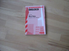 Interpretationshilfe Englisch Paul Auster Moon Palace ISBN 978-3-89449-508-4