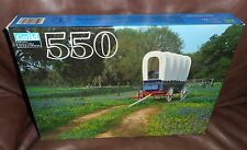 NIB  NEW  BLUEBONNETS AT SUMMERFIELD'S COVERED WAGON 550 pc. JIGSAW PUZZLE