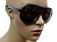 MEN WOMEN MIRRORED SKI FASHION DESIGNER AVIATOR SUNGLASSES MATTE BLACK 817LCM