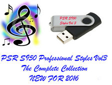 Yamaha PSR S950 PRO Styles and Midis USB Flash drive NEW for 2016
