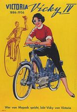 VINTAGE 1956 VICKY MOPED ADVERTISING A4 POSTER PRINT