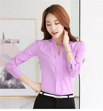 Elegant Women's Girls Chiffon Tops Slim Loose Shirts Casual Fashion Blouses
