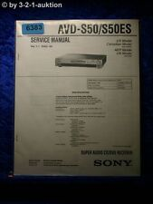 Sony Service Manual AVD S50 /S50ES Super Audio CD/DVD Player (#6383)