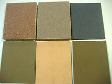 LOT OF THIRTY PIECE 1/4 SHEET ASSORTED PALM SANDER SANDPAPER
