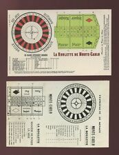 France Monte-Carlo Gambling Roulette card lay out payments unused c1900 u/b PPC
