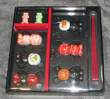 New Disney Vinylmation Mickey Sushi Set 3'' Figures with 2 Juniors 8 Pieces Set